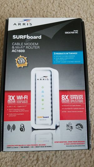 SURFboard Modem + Router - AC1600 - SBG6700-AC for Sale in Frisco, TX