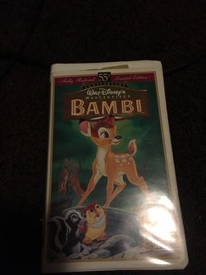 Vhs movie call Bambi very good movie for Sale in North Las Vegas, NV
