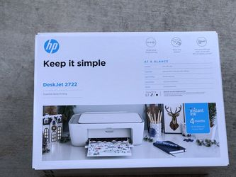 Brand New Seal Packed | HP All-in-One Printer | Comes with ink & 4 month free ink delivery free for Sale in Hayward,  CA