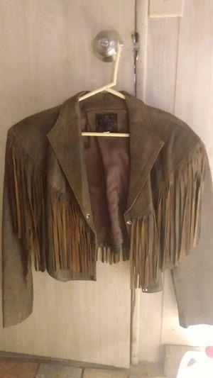 Brown fringe leather jacket for Sale in Pahrump, NV