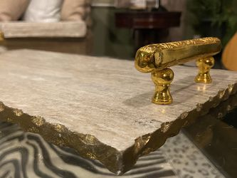Marble Tray With Gold Handles And Trim for Sale in Buena Park,  CA
