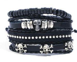 (Shipped Only) Multilayer Leather Skull Bracelet for Sale in Wichita, KS