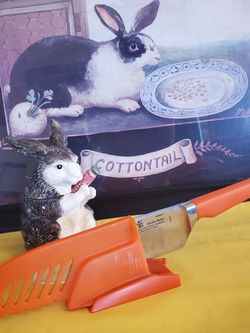 Bunny With A Scoop, Or A Carrot Chopping Knife for Sale in St. Louis,  MO