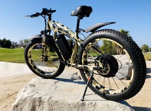 New FAST custom eBike, 2000watt motor 67v lithium battery electric bicycle cruiser mountain bike downhill fat tire camouflage military dip for Sale in Garden Grove, CA