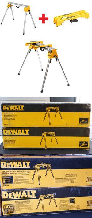 New DEWALT Heavy Duty Work Stand DWX725B with Miter Saw Workstation Tool Mounting Brackets DW7231 DW725 Bracket TableSaw Table Power for Sale in Pasadena, CA