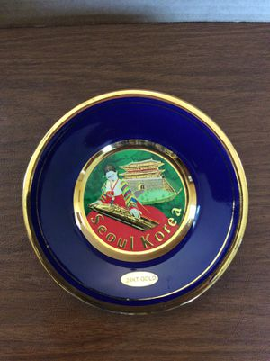 The art of Chokin collectors plate with 24 K gold rim. for Sale in Whittier, CA