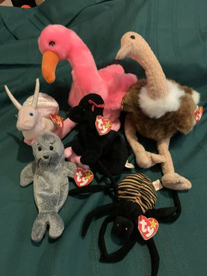 Ty Beanie Baby collection 6 pieces for Sale in Kennedale, TX