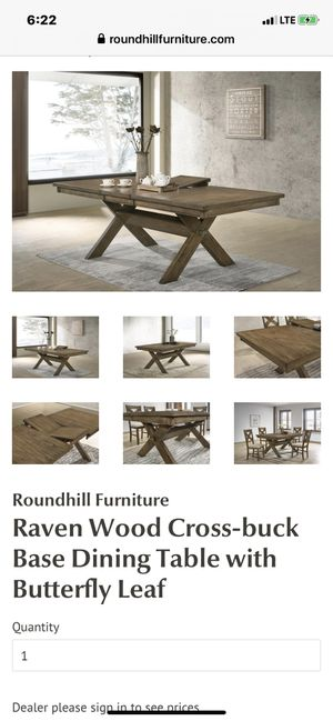 Raven Wood Dining Table for Sale in District Heights, MD