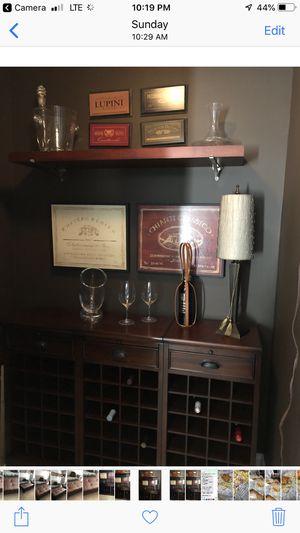 Pottery barn three-piece wine cabinet for Sale in Atlanta, GA