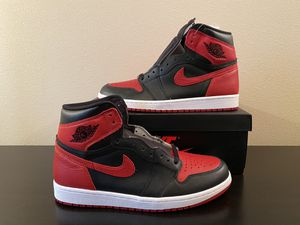 2016 Nike air Jordan retro 1 og high bred size 10 with receipt for Sale in Buckley, WA