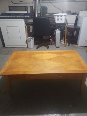 Coffee table wood large for Sale in Portland, OR