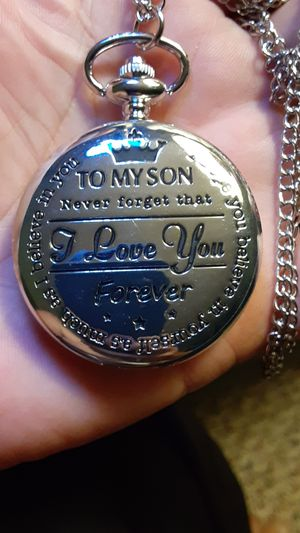Silver poketwatch for a son for Sale in New Port Richey, FL