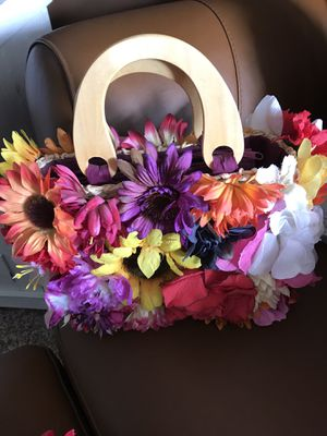 Assorted floral covered handbags (handmade - new) for Sale in Delray Beach, FL