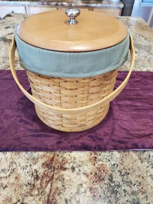 Longaberger Ice Bucket Basket (dated 2003) for Sale in PA, US