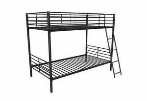 NEW twin over twin convertible bunk bed, black for Sale in Las Vegas, NV