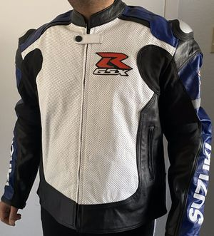 Suzuki GSXR Motorcycle CE Approved Armor Leather Racing Jacket Size 3XL for Sale in Austin, TX