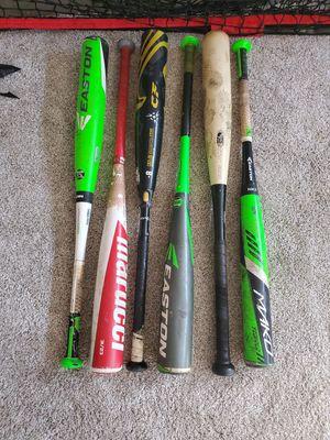 Baseball bats dimarini-8 $120 marucci cat8 $100 marucci $80 the rest $50 each for Sale in North Las Vegas, NV