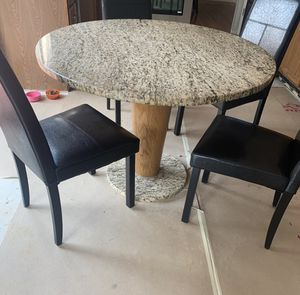 Granite kitchen table with chairs for Sale in Northfield, OH