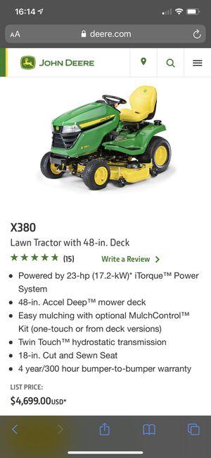 2019 X380 john deere lawn tractor for Sale in Ridgefield, WA