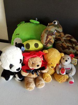 Stuffed Animals Lot $5 (6) Animals! for Sale in San Bernardino, CA