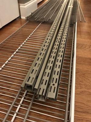 ClosetMaid SuperSlide Nickel Wire Closet Shelf Brackets Shelves $400 for Sale in Chicago, IL