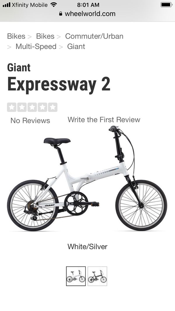 1 Giant folding bike and bag. Barely used. Excellent condition!!!