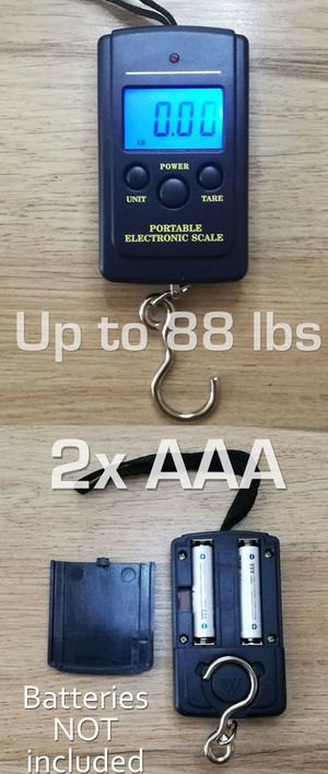 BRAND NEW Portable Electronic Scale 88lb 40kg Hanging Scale Libra Bascula Travel Luggage Scale Digital Fishing Pocket Weight Grocery Measure Pound for Sale in Rancho Cucamonga, CA