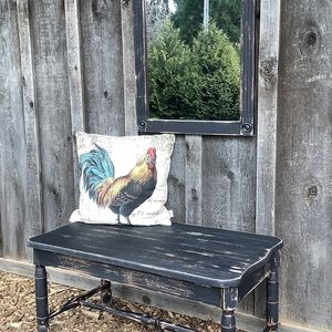 """""""Shabby Chic"""" Black Bench - Coffee Table for Sale in Hillsboro, OR"""