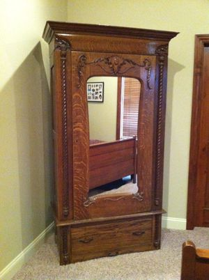 Armoire storage can be used as shelving or handing storage for Sale in Naples, FL