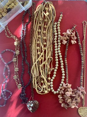 Necklaces also extra beads and costume jewelry that can be used for other designs for Sale in Payson, AZ