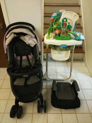 Stroller, car seat and high kids chair for Sale in Stone Mountain, GA