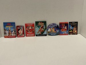 7 Disney collector's pins Tarzan Mulan Treasure Planet Incredibles Beauty & the Beast for Sale in Albany, OR