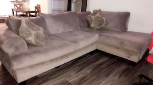 Sectional couch and round sofa for Sale in Houston, TX