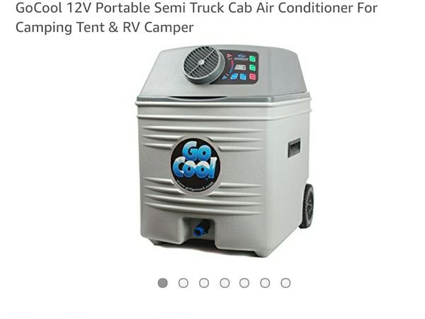 Go Cool 12V Portable Semi Truck Cab Air Conditioner For Camping Tent RV Camper