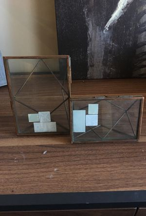TWO GLASS INDUSTRIAL PICTURE FRAMES for Sale in Nashville, TN
