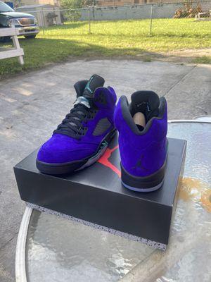 Jordan 5 alternative grape size 10 for Sale in Miami, FL
