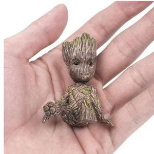 2 Small Figures Sitting Groot Guardians Of The Galaxy 6 CM for Sale in Arlington, TX