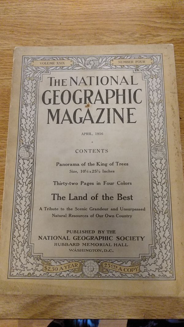 The National Geographic Magazine April 1916