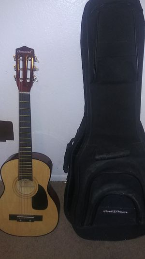 iBurswood acoustic guitar, including guitar bag for Sale in Peoria, AZ