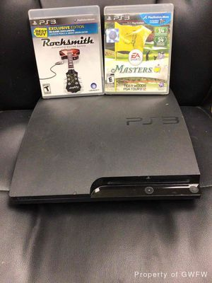 PS3 Console & 2 Games for Sale in Denton, TX