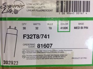 LOT 60 Superior Life Low Mercury Linear Fluorescent Lamp 4100K 32 Watt F32T8 741 $60.00 for Sale in Dallas, TX