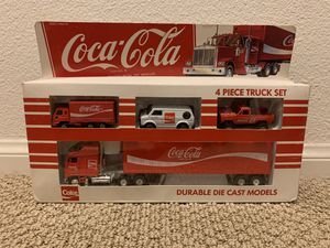 1979 Hartoy Coca Cola 4 Piece Truck Set Die Cast Metal for Sale in Torrance, CA