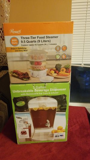 Three tier food steamer and unbreakable beverage dispenser for Sale in Arlington, VA