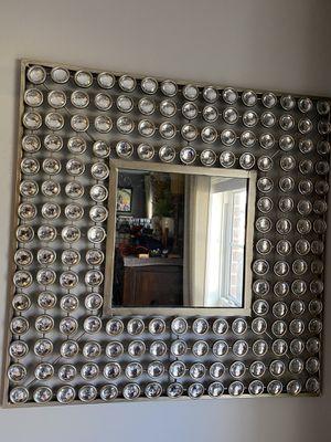 Beautiful rhinestone mirror/decor. 29in x 29in. for Sale in Smyrna, TN