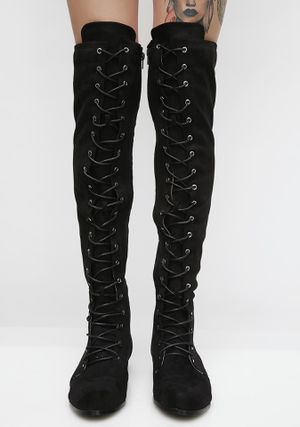 Dolls Kill Lace up thigh high boots for Sale in Palm Harbor, FL