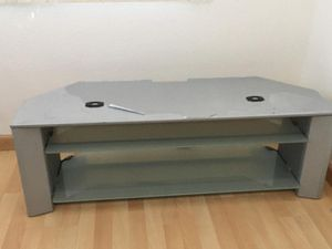 TV Stand w/ Glass Shelves for Sale in Las Vegas, NV