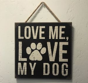 dog sign wall decor for Sale in Escondido, CA