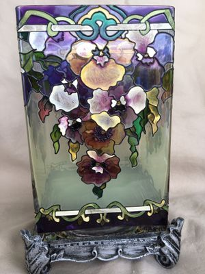 Amia Denver Co. stained glass candle holder for Sale in Sherman, TX