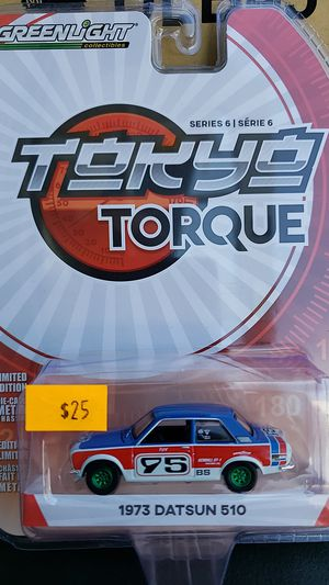 GREENLIGHT DIE CAST 1:64 SCALE 1973 DATSUN 510 CHASE PIECE for Sale in City of Industry, CA