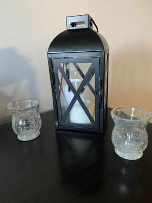Frosted Candle holders for Sale in Fort Belvoir, VA
